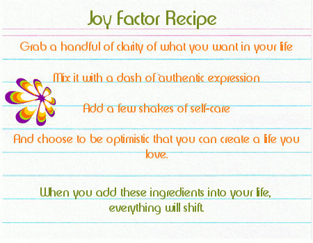 The Joy Factor Recipe